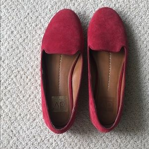 Dolce Vita Shoes - Red Suede Dolce Vita Loafers